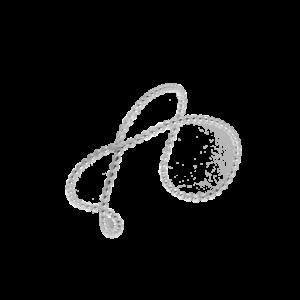 Lasso-rannerengas, kevyt & näyttävä tehty hopeisesta pallolangasta